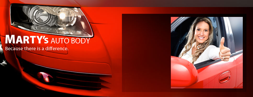 Marty's Auto Body: Because there is a difference.